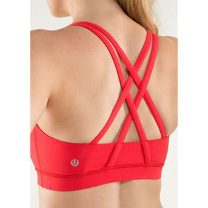 Lululemon Energy Sports Bra in Red